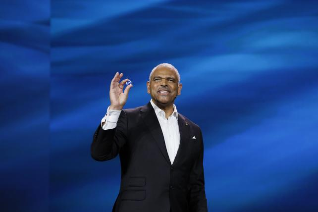 Carnival Corp. President-CEO Arnold Donald gives his keynote address at CES 2017.