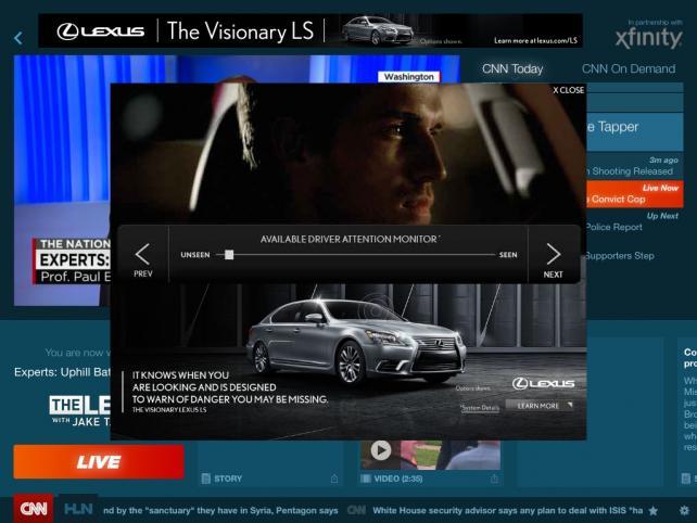 Lexus has struck a year-long ad deal with CNN Go, originally called CNNx.