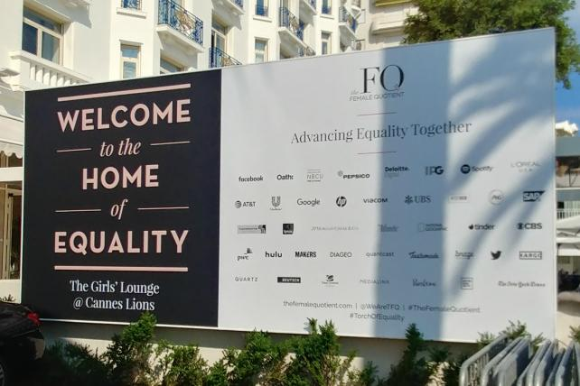 Marketers push their gender-equality efforts out onto the Cannes stage