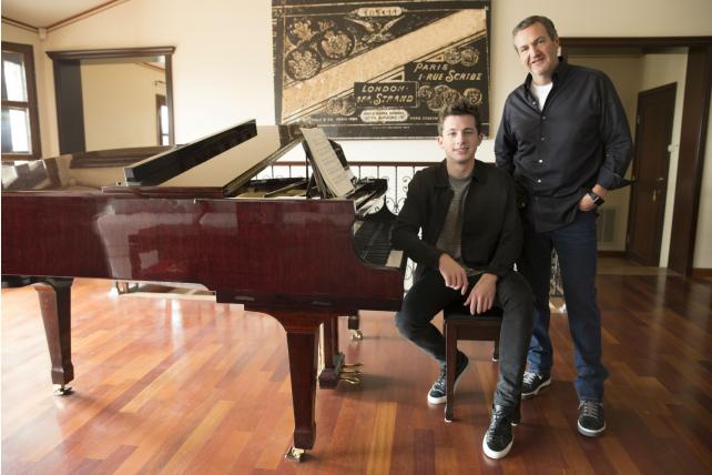 Grammy-nominated Charlie Puth with Deutsch CEO Mike Sheldon