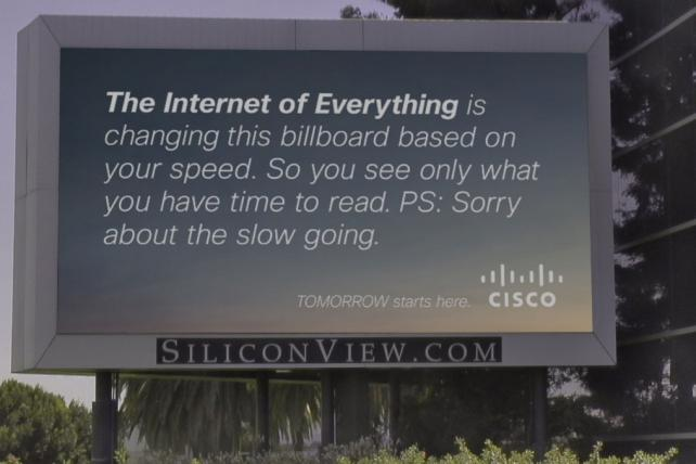 Cisco Launches Connected Billboard in San Francisco