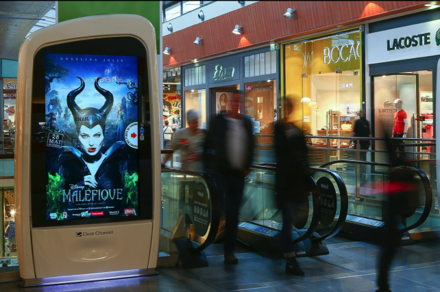 Disney recently ran interactive displays on roughly 600 digital shopping mall kiosks in France.