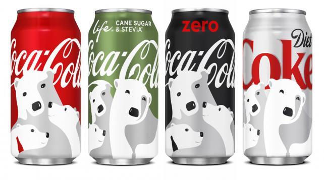 Coca-Cola's new polar bear packaging.