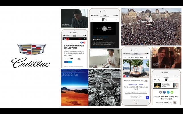 Condé Nast's Brand Content Studio Signs Cadillac for Yearlong Digital Campaign
