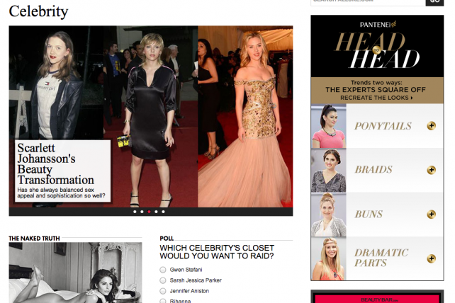 A Google-powered ad on Conde Nast's Allure site