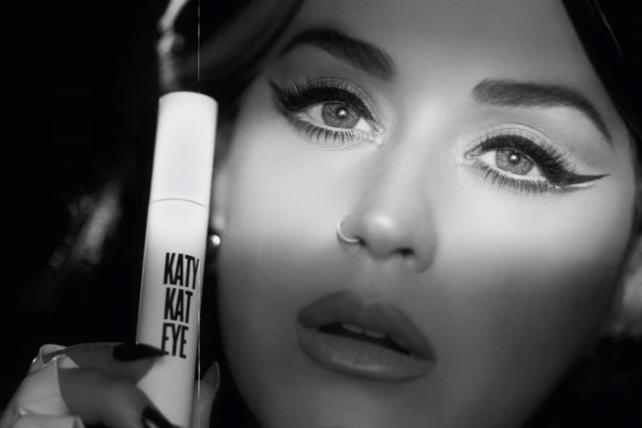 Katy Perry's New Katy Kat Collection Mascara & Matte Lipstick ad