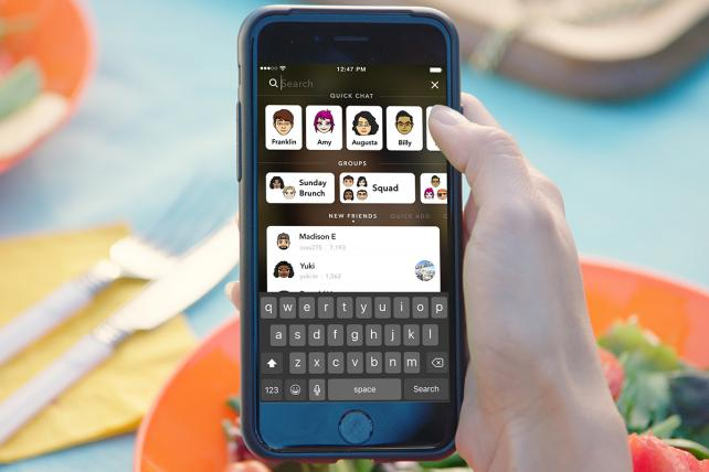 Snapchat's search borrows from Asian messaging apps like WeChat.