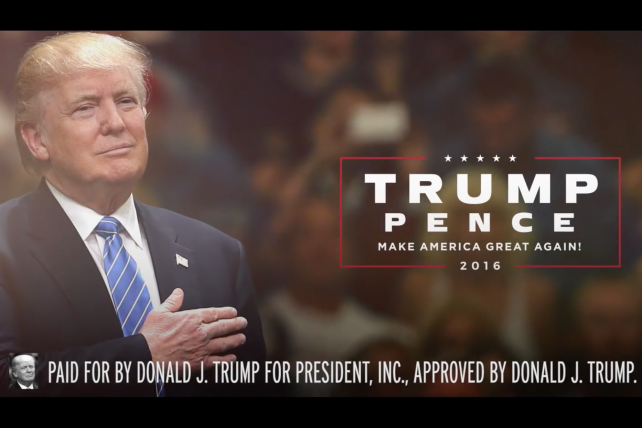 From Trump's latest campaign ads.