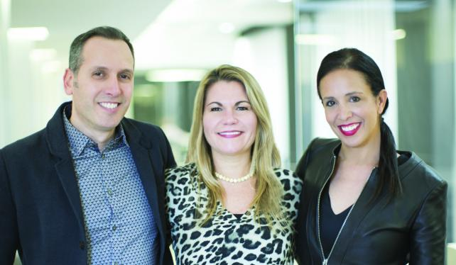 (From l.) Ari Halper, CCO, Karyn Rockwell, CEO, and Deb Freeman, exec VP and chief strategy officer