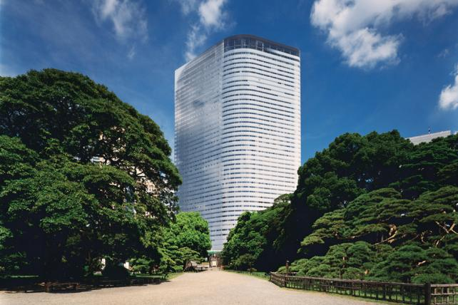 Dentsu's world headquarters tower in Tokyo.