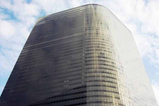 Dentsu's world headquarters tower in Tokyo.