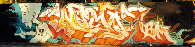 Some of Mr. Morales' early work as a graffiti artist.