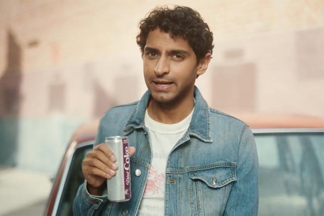 Karan Soni pushes Diet Coke's new 'feisty cherry' flavor.