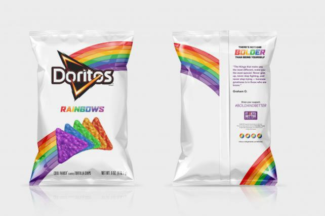Doritos: Limited-edition chips in the Pride colors