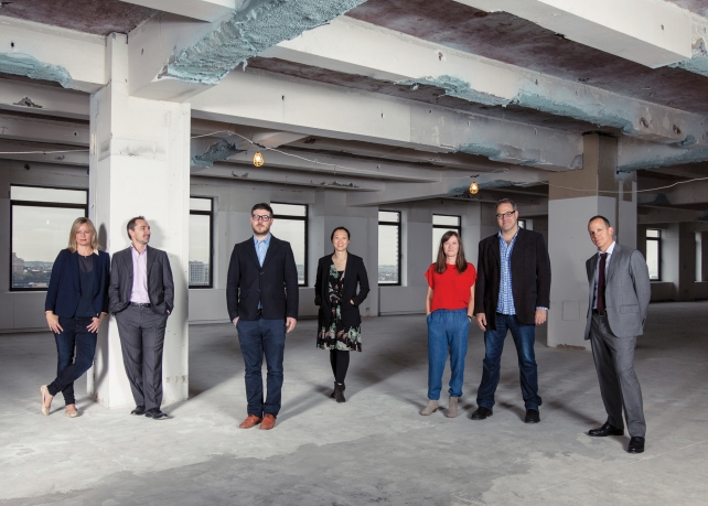 From l.: Sarah Thompson, CEO; David Droga, creative chairman; Jonny Bauer, chief strategy officer; Susie Nam, general manager; Sally-Ann Dale, chief creation officer; Ted Royer, chief creative officer; Andrew Essex, vice chairman
