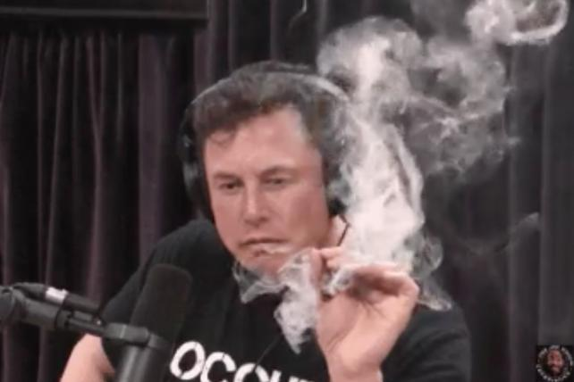 Watch: Elon Musk smokes weed on Joe Rogan's podcast