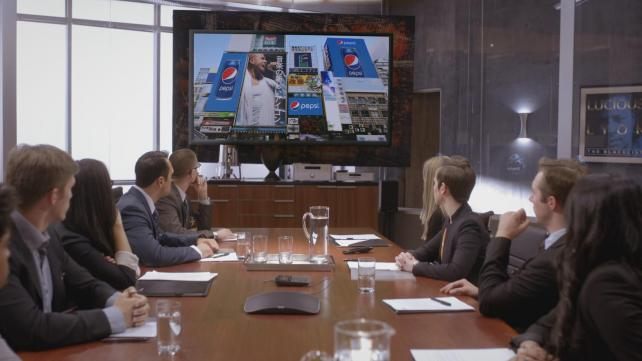 Jamal Lyon (not pictured) and Lucious Lyon (not pictured) meet with Pepsi executives, from 'Empire' episode 'My Bad Parts.'