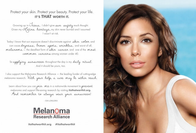 Eva Longoria in L'Oreal-backed public-service ad for sunscreen use