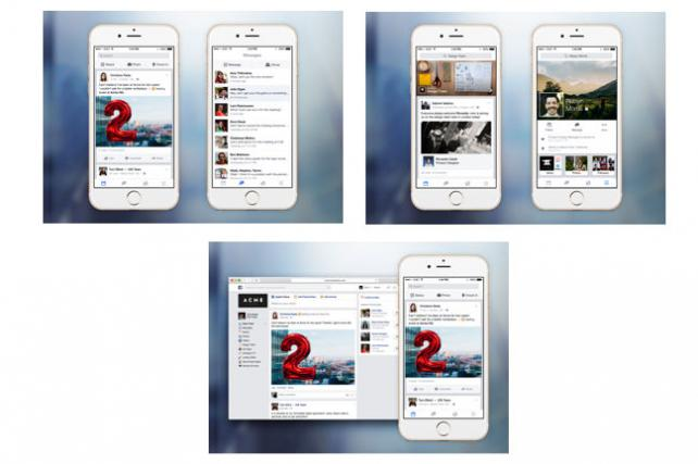 People can use Facebook at Work on mobile or desktop.