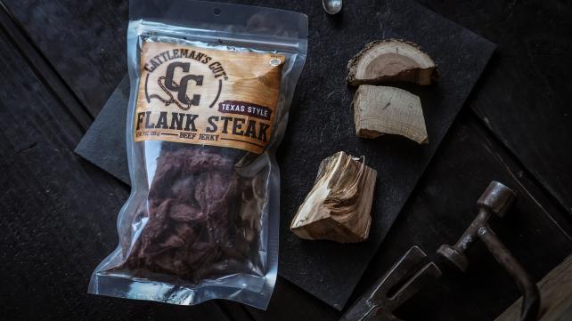 Cattleman's Cut Texas Style Flank Steak Beef Jerky.
