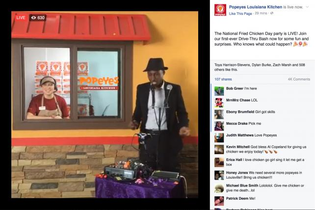 Popeyes' First Facebook Live Event Brings Chicken to Your Doorstep