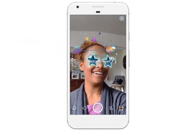 Facebook already is testing a Stories section that uses augmented reality effects.