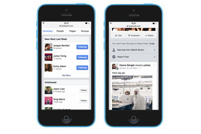 Facebook's new news feed monitor and control tool