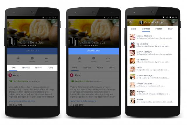 Facebook has redesigned pages for mobile with new sections and calls to action.