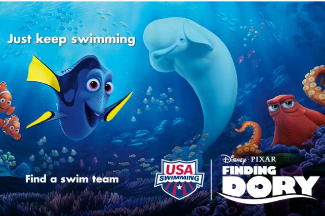 USA Swimming teams up with Disney and Pixar to promote 'Finding Dory.'