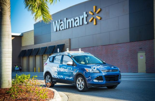 Ford's self-driving cars will whisk Walmart deliveries to doorsteps