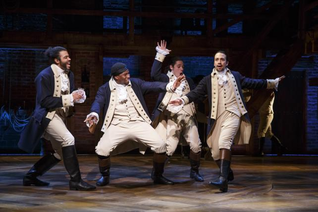 Daveed Diggs, Okieriete Onaodowan, Anthony Ramos and Lin-Manuel Miranda in 'Hamilton's America'