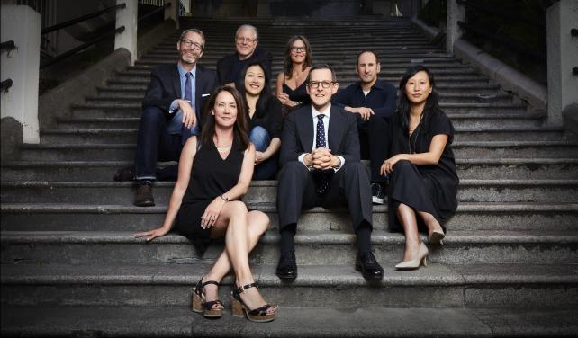 From left, the expanded partners of Goodby, Silverstein & Partners: Brian McPherson, Margaret Johnson, Jeff Goodby, Christine Chen, Leslie Barrett, Derek Robson, Rich Silverstein, Bonnie Wan.