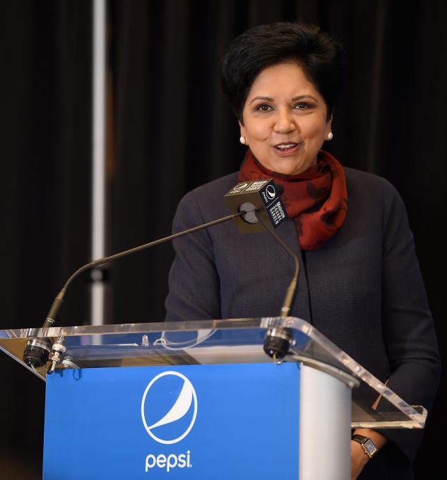 Indra Nooyi attends The Madison Square Garden Company Announcement at Madison Square Garden on July 24, 2018 in New York City.