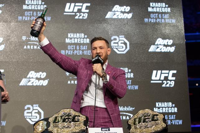 Whiskey Business: At a chaotic UFC presser, Conor McGregor shills for his new booze brand