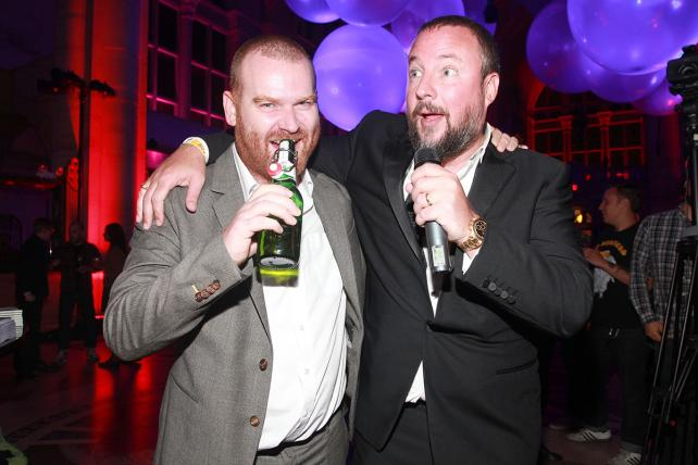 Andrew Creighton, president of Vice Media Group (l.) and Shane Smith, founder.