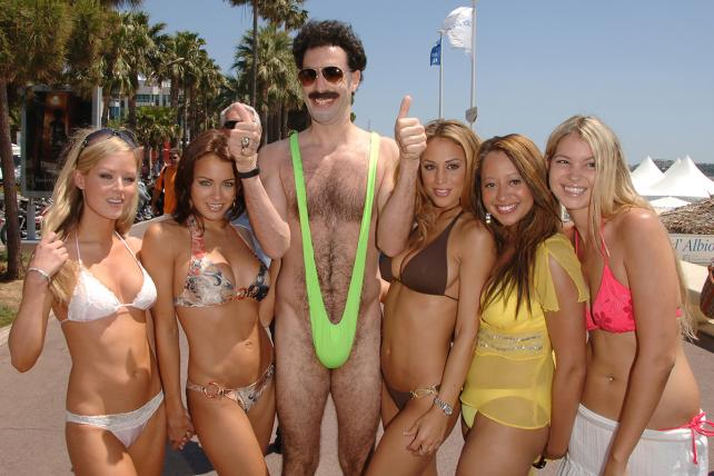 Sacha Baron Cohen as 'Borat' during the 2006 Cannes Film Festival.