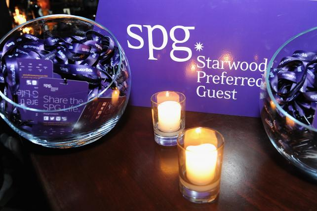 SPG Preferred Guest signage.