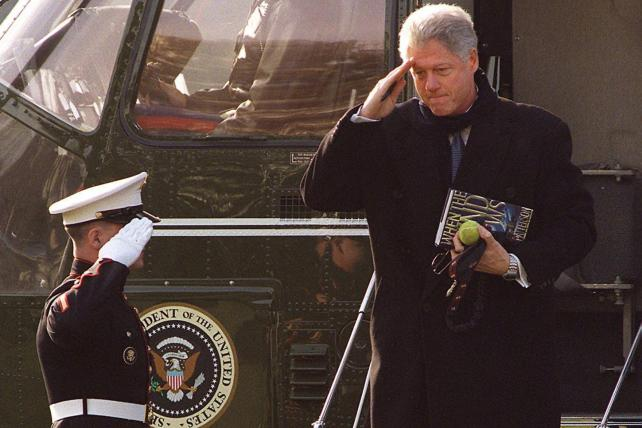 President Bill Clinton with Patterson's book