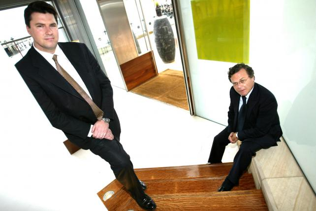 Hamish McLehnan and Martin Sorrell of Young and Rubicam in November 2003.