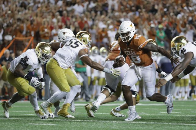 Notre Dame and Texas crashed the Top 10 in broadcast.