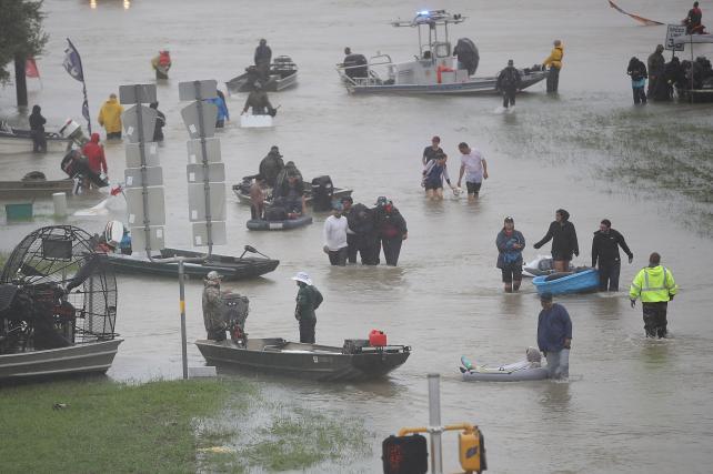 Hurricane Harvey on Aug. 28 in Houston.