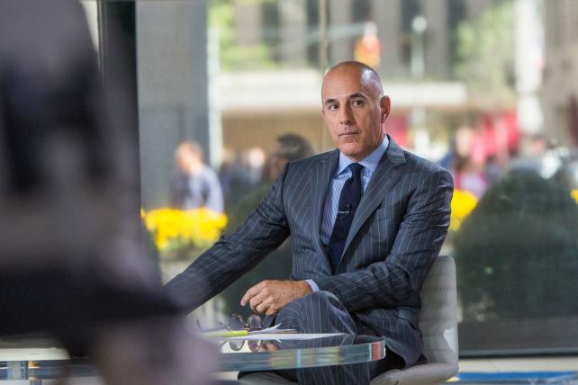 Matt Lauer on the set of 'The Today Show' in September 2017.