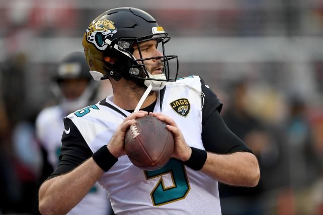 The Jaguars' Blake Bortles warms up before a game against the 49ers last month.