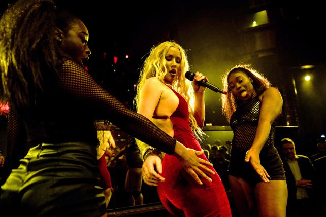 Iggy Azalea performs during a Monster CES party at Omnia Nightclub at Caesars Palacethis week in Las Vegas.