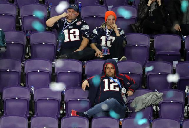 New England Patriots fans during 4th quarter of Super Bowl LII earlier this month.