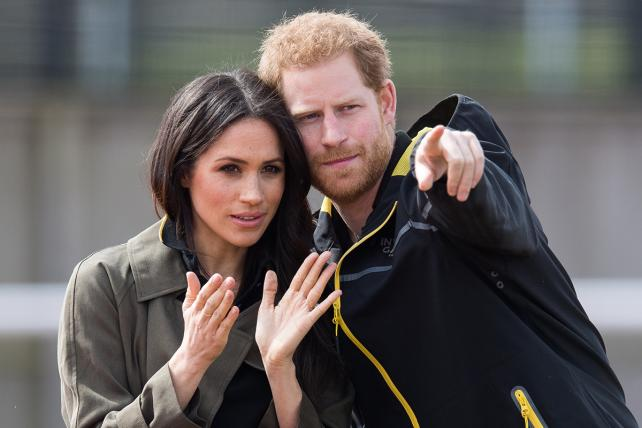 Prince Harry and Meghan Markle at the U.K. Team Trials for the Invictus Games Sydney 2018.
