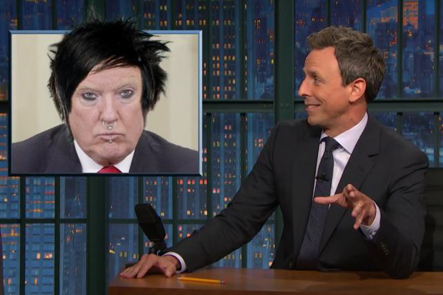 Hey look, it's Goth Trump!