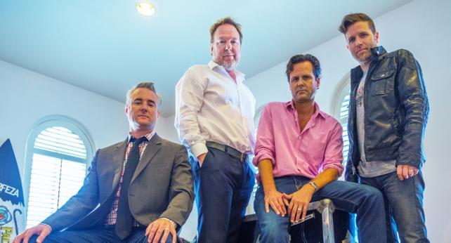 (From l.) Steve Bender, Bruce Flohr, Dominic Sandifer and Nick Davidge of GreenLight Media & Marketing