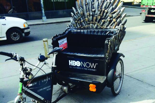 The 'Game of Thrones' Iron Throne Pedicab