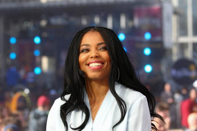 Jemele Hill on the set of 'SportsCenter' during the 2017 NBA Finals.